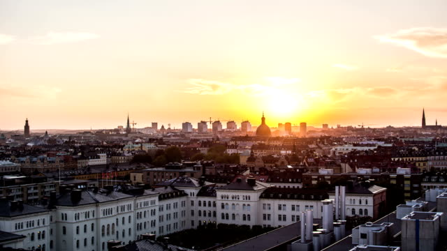 HD Time Lapse: Stockholm Cityscape Sunset video