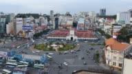 HO CHI MINH / SAIGON, VIETNAM - 2015: Time lapse street asia people asian city video
