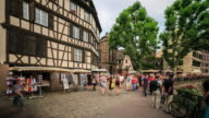4K Time Lapse : Street view of Strasbourg video