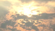 Time Lapse : Sun and moving cloud video