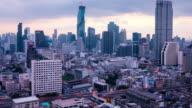 Time lapse, Sunrise view over Bangkok City video