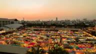 time lapse sunset views of Bangkok. video