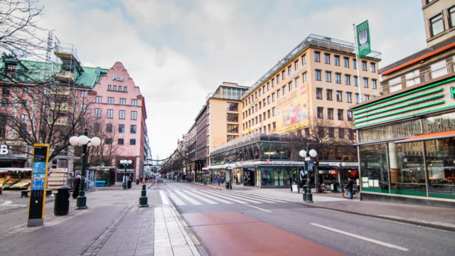 4K Time Lapse: Sweden Stockholm City Street video