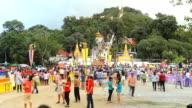Time Lapse: Tak Bat Devo Festivals in Uthaithani, Thailand. video