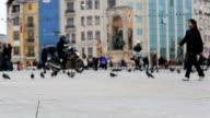time lapse taksim square, tracking shot video