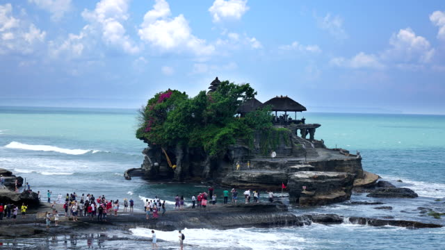 Time lapse , Tanah Lot Temple, the most important hindu temple of Bali, Indonesia. video