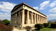 Time Lapse Temple of Hephaestus in Acropolis video