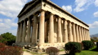 Time Lapse Temple of Hephaestus, tracking shot video