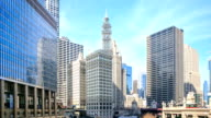 Time lapse : The Chicago River serves as the main video