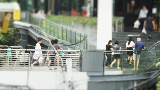 4K time lapse the crowd walking on walkway at Bangkok, Thailand video