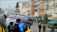 Time Lapse: The crowded Venice town crosswalk. Lots of people, Italy video