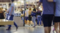 4K time lapse the lifestyles of crowd at shopping mall video