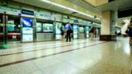Time lapse :  The Mass Rapid Transit (MRT) station in Singapore video