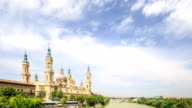 HD Time lapse : the Pilar Cathedral in Zaragoza, Spain video
