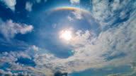 Time Lapse The Sun Halo (Circumscribed Halo) video