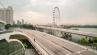 Time Lapse The traffic in Singapore video