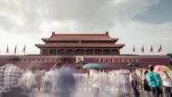 Time Lapse- Tiananmen Gate, Beijing (RL Pan) video