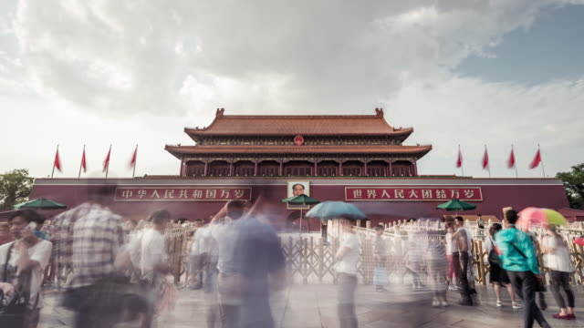 Time Lapse- Tiananmen Gate (LA Zoom in) video