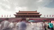 Time Lapse- Tienanmen Gate in Beijing (Panning) video