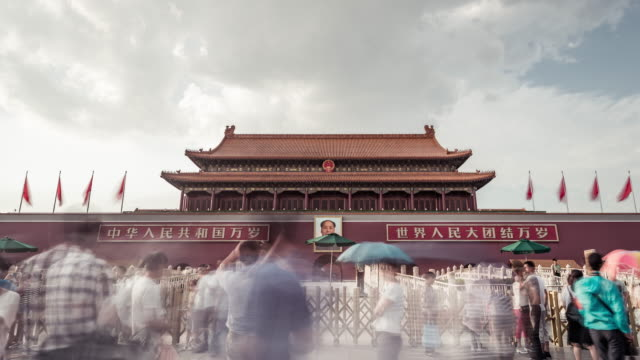 Time Lapse- Tienanmen Gate in Beijing (Panning) video