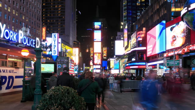 4K Time Lapse : Times Square New York video