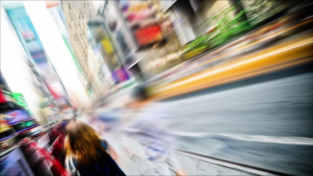 Time lapse Times Square NYC - Angled with Soft Focus video