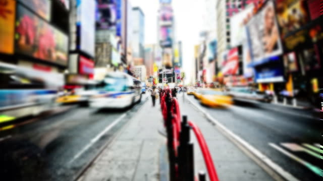 Time lapse Times Square NYC - Fast and Bright video
