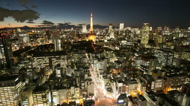 4K Time Lapse :Tokyo city at night video