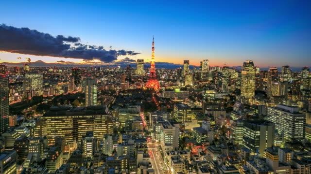 4K Time Lapse :Tokyo city at twilight video