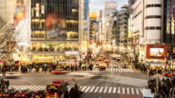 Time lapse - Tokyo, Shibuya Crossing at Dusk video
