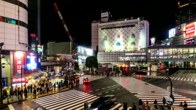 HD Time Lapse : Tokyo Shibuya Crossing, Japan video