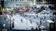 Time lapse. Tokyo. Shibuya station - Stock video - Stock Video video