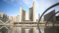 4K Time Lapse : Toronto City Hall video