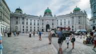 Time Lapse, Tourist waking at Hofburg Palace, Vienna video