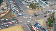 Time lapse traffic at Gangnam in Seoul, South Korea. video