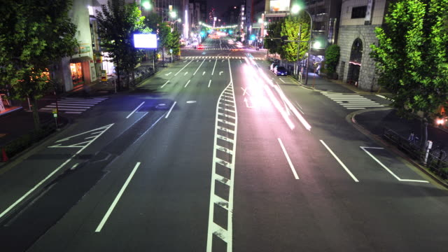 HD Time lapse - Traffic at Night video