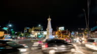 Time Lapse : Traffic at Tugu Yogyakarta. video