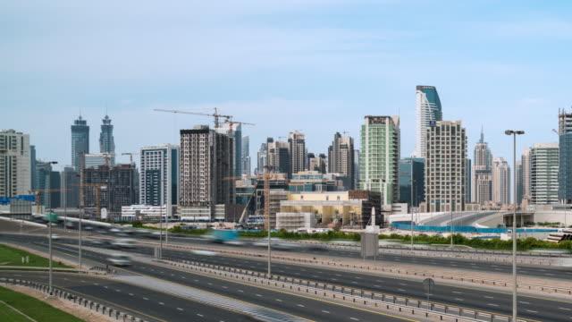Time Lapse traffic in Dubai video