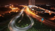 Time Lapse: Traffic nightscape of Kuala Lumpur city video