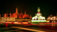 HD Time lapse : Traffic of Grand palace at night video