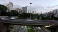 Time lapse Traffic Sao Paulo pan shot video