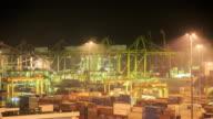 4K Time Lapse :transshipment port video