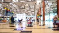 4K Time Lapse : Traveler at Airport Departure Terminal video