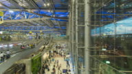 Time Lapse : Travellers walking in the airport terminal video