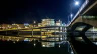 HD Time Lapse: Urban Waterway Bridge video