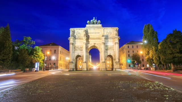 4K Time Lapse : Victory Gate in Munich video