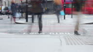 Time lapse video at a busy pedestrian crossing video