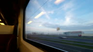 Time Lapse video in the fast train in Holland video