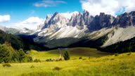 Time lapse video of a mountain landscape: the Odle video