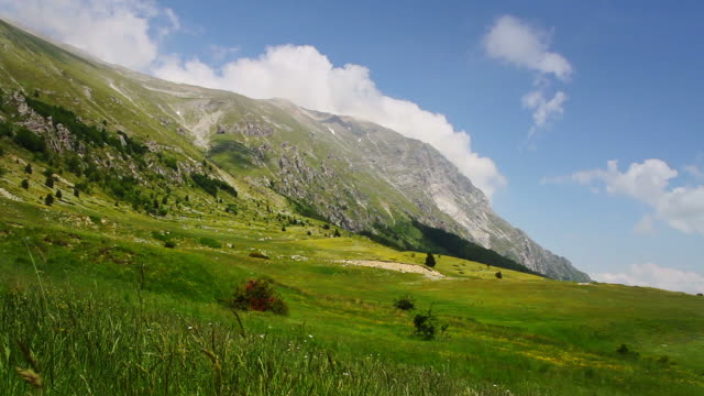 Time lapse video of a summer mountain landscape video